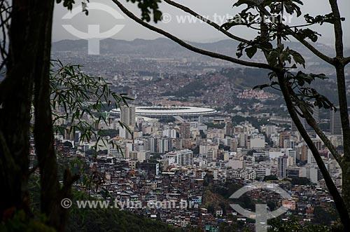 Assunto: Vista do Estádio Mario Filho a partir do Morro dos Prazeres / Local: Santa Teresa - Rio de Janeiro (RJ) - Brasil / Data: 07/2013