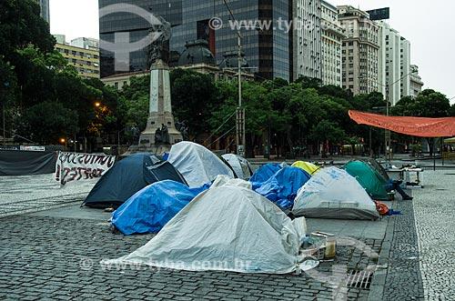 Assunto: Acampamento em frente a Câmara de Vereadores do Rio de Janeiro - Movimento Ocupa Câmara Rio / Local: Centro - Rio de Janeiro (RJ) - Brasil / Data: 10/2013