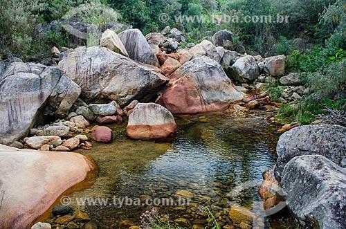 Assunto: Cachoeira na trilha para as Torres de Bonsucesso no Parque Estadual dos Três Picos / Local: Distrito de Bonsucesso - Teresópolis - Rio de Janeiro (RJ) - Brasil / Data: 05/2014