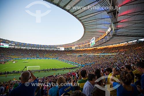 Assunto: Interior do Estádio Jornalista Mário Filho (1950) - também conhecido como Maracanã - durante o jogo entre Equador x França / Local: Maracanã - Rio de Janeiro (RJ) - Brasil / Data: 06/2014