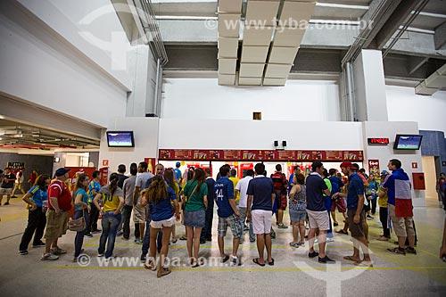 Assunto: Fila para lanchonete no Estádio Jornalista Mário Filho (1950) - também conhecido como Maracanã - durante o intervalo do jogo entre Equador x França / Local: Maracanã - Rio de Janeiro (RJ) - Brasil / Data: 06/2014
