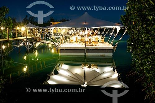 Assunto: Restaurante flutuante no Prince Maurice Resort / Local: Distrito de Flacq - Maurício - África / Data: 11/2012