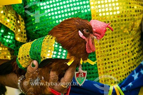 Detalhe do Galo Fred no Alzirão (Rua Alzira Brandão) durante o jogo entre Camarões x Brasil pela Copa do Mundo no Brasil  - Rio de Janeiro - Rio de Janeiro - Brasil