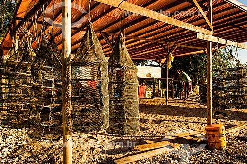 Assunto: Gaiolas para criação de ostras na Praia de Santo Antonio de Lisboa / Local: Santo Antônio de Lisboa - Florianópolis - Santa Catarina (SC) - Brasil / Data: 05/2014