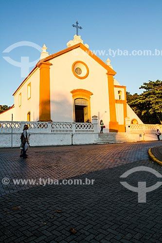 Assunto: Fachada da Igreja da Nossa Senhora das Necessidades (1756) / Local: Santo Antônio de Lisboa - Florianópolis - Santa Catarina (SC) - Brasil / Data: 05/2014