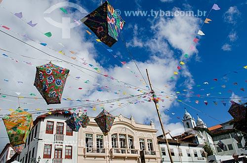 Assunto: Decoração na Praça Barão Guaicui / Local: Diamantina - Minas Gerais (MG) - Brasil / Data: 06/2012