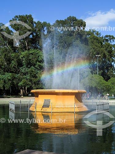 Assunto: Fonte Luminosa (1935) no Parque Farroupilha - também conhecido como Parque da Redenção / Local: Porto Alegre - Rio Grande do Sul (RS) - Brasil / Data: 04/2014