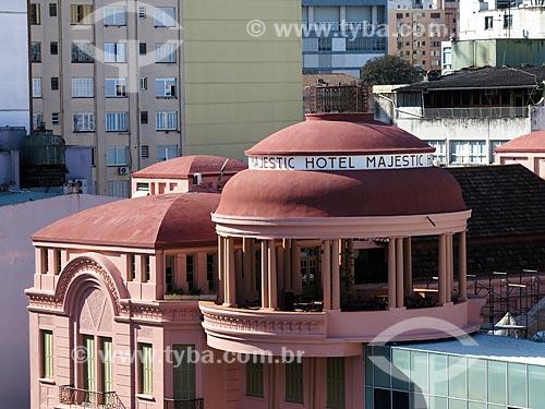 Assunto: Fachada da Casa de Cultura Mario Quintana (1933) - antigo Hotel Majestic / Local: Porto Alegre - Rio Grande do Sul (RS) - Brasil / Data: 04/2014
