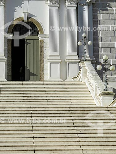 Assunto: Escadaria da Igreja de Nossa Senhora das Dores (1901) / Local: Porto Alegre - Rio Grande do Sul (RS) - Brasil / Data: 05/2014