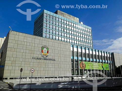 Assunto: Fachada do Palácio Farroupilha (1967) - sede da Assembléia Legislativa do Estado do Rio Grande do Sul / Local: Porto Alegre - Rio Grande do Sul (RS) - Brasil / Data: 05/2014