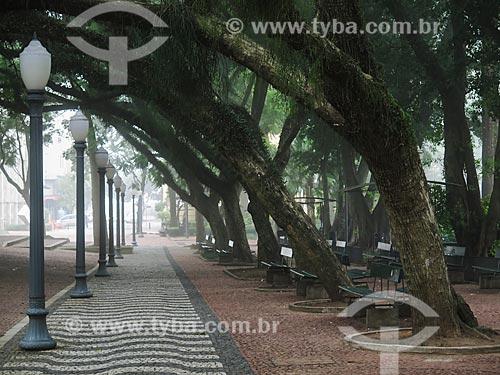 Assunto: Praça da Alfândega durante o inverno / Local: Porto Alegre - Rio Grande do Sul (RS) - Brasil / Data: 05/2014