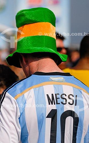 Assunto: Torcedores da Argentina assistem o jogo Argentina x Suíça na Fifa Fan Fest Copacabana durante a Copa do Mundo 2014 / Local: Copacabana - Rio de Janeiro (RJ) - Brasil / Data: 07/2014