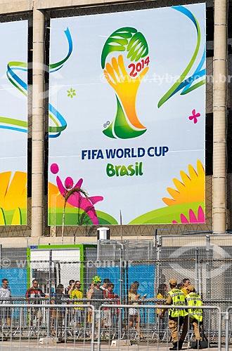 Assunto: Torcedores chegam ao Maracanã para assistir o jogo Alemanha x França pela Copa do Mundo 2014 / Local: Maracanã - Rio de Janeiro (RJ) - Brasil / Data: 07/2014