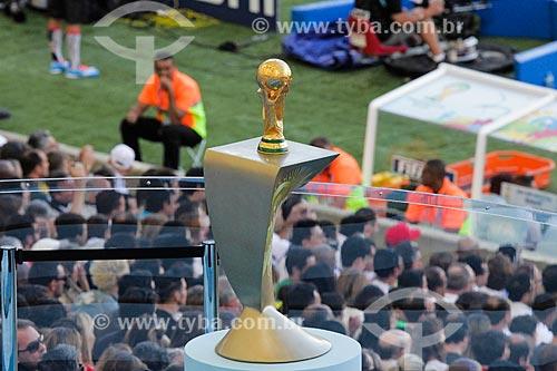 Assunto: Troféu da Copa do Mundo da FIFA exposto durante o jogo entre Alemanha x Argentina pela final a Copa do Mundo no Brasil / Local: Maracanã - Rio de Janeiro (RJ) - Brasil / Data: 07/2014