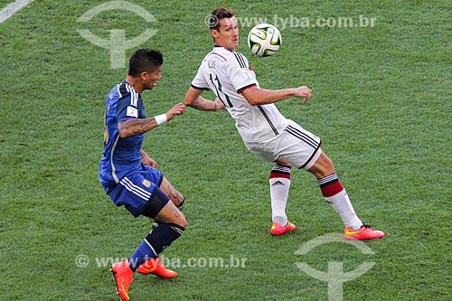 Assunto: Disputa entre Rojo e Klose durante o jogo entre Alemanha x Argentina pela final a Copa do Mundo no Brasil / Local: Maracanã - Rio de Janeiro (RJ) - Brasil / Data: 07/2014