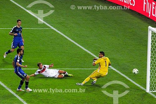 Assunto: Gol de Götze durante jogo entre Alemanha x Argentina pela final a Copa do Mundo no Brasil / Local: Maracanã - Rio de Janeiro (RJ) - Brasil / Data: 07/2014