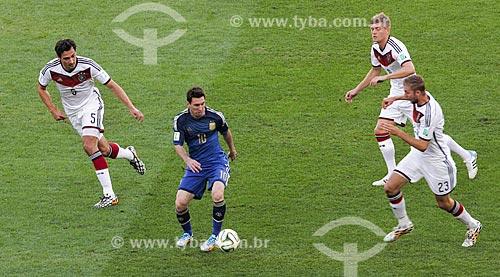 Assunto: Messi durante o jogo entre Alemanha x Argentina pela final a Copa do Mundo no Brasil / Local: Maracanã - Rio de Janeiro (RJ) - Brasil / Data: 07/2014