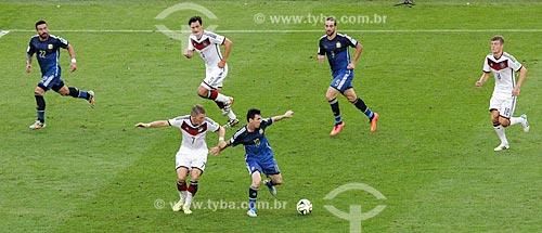Assunto: Disputa entre Schweinsteiher e Messi durante o jogo entre Alemanha x Argentina pela final a Copa do Mundo no Brasil / Local: Maracanã - Rio de Janeiro (RJ) - Brasil / Data: 07/2014