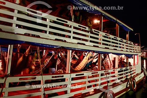 Assunto: Redes em barco no Porto de Manaus / Local: Manaus - Amazonas (AM) - Brasil / Data: 10/2013