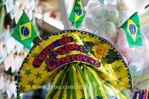 Assunto: Chapéu nordestino com as cores do Brasil no Centro Luiz Gonzaga de Tradições Nordestinas / Local: São Cristovão - Rio de Janeiro (RJ) - Brasil / Data: 05/2014