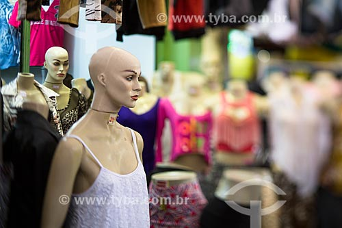 Assunto: Manequins do comércio de vestuário no Centro Luiz Gonzaga de Tradições Nordestinas / Local: São Cristovão - Rio de Janeiro (RJ) - Brasil / Data: 05/2014