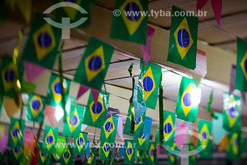 Assunto: Bandeirinhas do Brasil no Centro Luiz Gonzaga de Tradições Nordestinas / Local: São Cristovão - Rio de Janeiro (RJ) - Brasil / Data: 05/2014