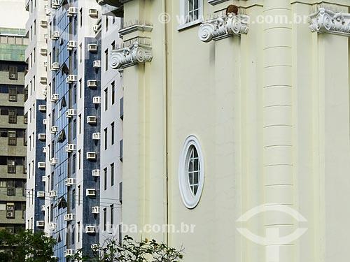 Assunto: Detalhe da fachada em arquitetura eclética da Estação de Tratamento de Água Moinhos de Vento (1928) - também conhecida como Hidráulica Moinhos de Vento / Local: Moinhos de Vento - Porto Alegre - Rio Grande do Sul (RS) - Brasil / Data: 05/2014
