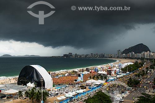 Assunto: Torcedores no Fifa Fan Fest durante jogo entre Brasil x Alemanha / Local: Copacabana - Rio de Janeiro (RJ) - Brasil / Data: 07/2014
