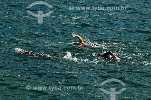 Assunto: Treino de natação no posto 6 - Praia de Copacabana / Local: Copacabana - Rio de Janeiro (RJ) - Brasil / Data: 06/2014