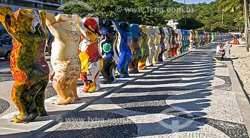 Assunto: Exposição de 145 ursos United Buddy Bears - Temporada da Alemanha no Brasil / Local: Leme - Rio de Janeiro (RJ) - Brasil / Data: 05/2014