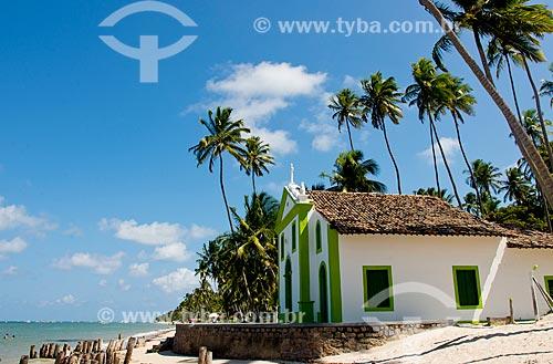 Assunto: Capela de São Benedito (1910) na Praia dos Carneiros / Local: Tamandaré - Pernambuco (PE) - Brasil / Data: 12/2013