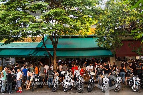 Assunto: Restaurante Jacaré Grill - frequentado por motociclistas - Vila Madalena / Local: Pinheiros - São Paulo (SP) - Brasil / Data: 03/2014