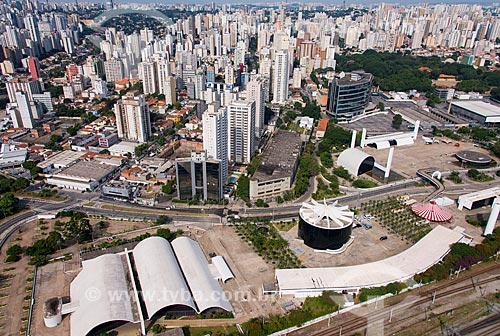 Assunto: Foto aérea do Memorial da América Latina (1989) / Local: Barra Funda - São Paulo (SP) - Brasil / Data: 04/2014