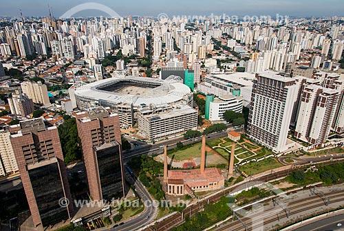 Assunto: Foto aérea do Allianz Parque - também conhecido como Arena Palmeiras / Local: Perdizes - São Paulo (SP) - Brasil / Data: 04/2014