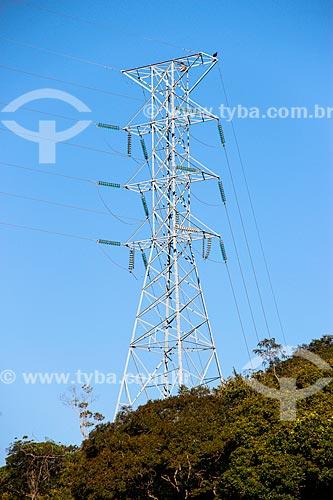 Assunto: Torre de transmissão de energia no Parque Nacional da Tijuca / Local: Rio de Janeiro (RJ) - Brasil / Data: 08/2014
