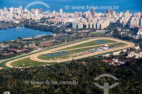 Assunto: Vista do Hipódromo da Gávea (Jockey Club Brasileiro) / Local: Rio de Janeiro (RJ) - Brasil / Data: 08/2014