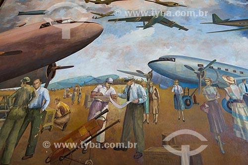 Painel Aviação Moderna (1951) no hall do Aeroporto Santos Dumont  - Rio de Janeiro - Rio de Janeiro (RJ) - Brasil