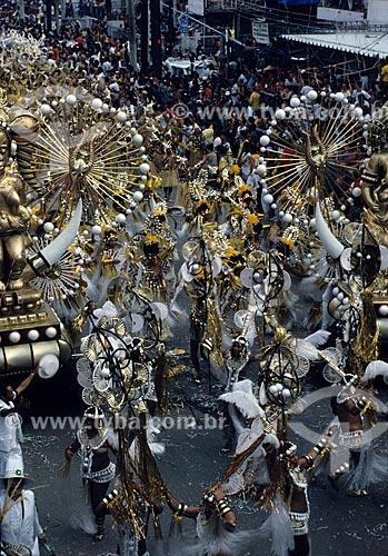 Desfile do Grêmio Recreativo Escola de Samba Império Serrano na Avenida Rio Branco  - Rio de Janeiro - Rio de Janeiro (RJ) - Brasil