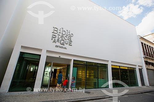 Fachada posterior da Biblioteca Parque Estadual - na Rua da Alfândega  - Rio de Janeiro - Rio de Janeiro (RJ) - Brasil