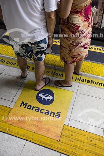 Passageiros na estação Maracanã do Metrô Rio  - Rio de Janeiro - Rio de Janeiro (RJ) - Brasil