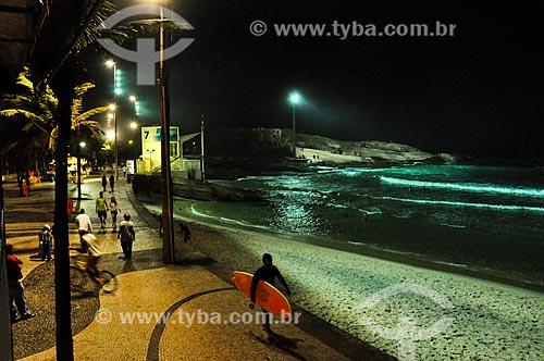 Praia do Arpoador à noite  - Rio de Janeiro - Rio de Janeiro (RJ) - Brasil