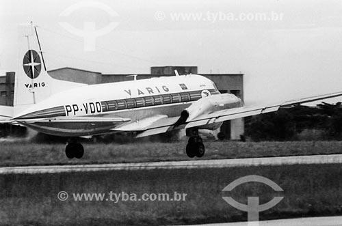 Avião da Varig no Aeroporto Santos Dumont  - Rio de Janeiro - Rio de Janeiro (RJ) - Brasil