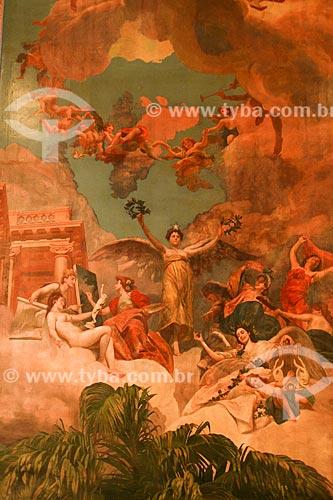 Detalhe da pintura A Glorificação das Bellas Artes na Amazônia no interior do Teatro Amazonas (1896)  - Manaus - Amazonas (AM) - Brasil