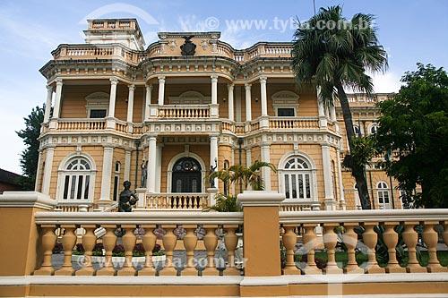 Fachada do Palácio Rio Negro (século XX) - sede do Governo do Estado  - Manaus - Amazonas (AM) - Brasil