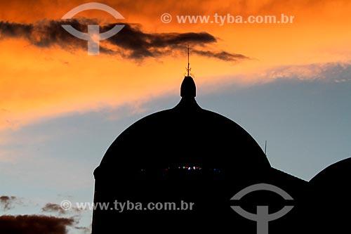 Silhueta de final de tarde do Teatro Amazonas  - Manaus - Amazonas (AM) - Brasil