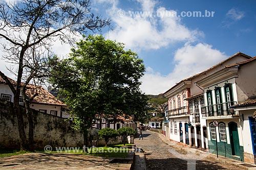 Casario colonial na Rua Bernardo Vasconcelos  - Ouro Preto - Minas Gerais (MG) - Brasil