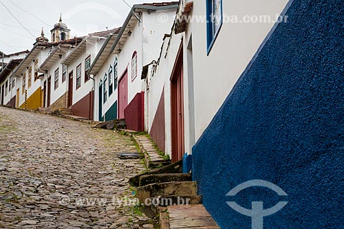 Casario colonial na Rua Santa Efigênia  - Ouro Preto - Minas Gerais (MG) - Brasil