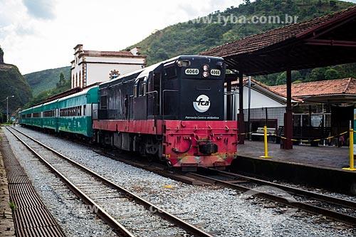 Trem da Companhia Vale na estação de trem de Ouro Preto  - Ouro Preto - Minas Gerais (MG) - Brasil