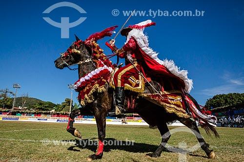 Cavaleiro Mouro durante a festa do Divino Espirito Santo  - Pirenópolis - Goiás (GO) - Brasil