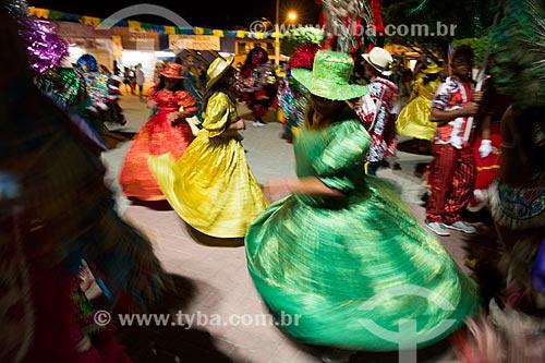 Apresentação de Maracatu Rural ou Maracatu de Baque Solto  - Tamandaré - Pernambuco (PE) - Brasil